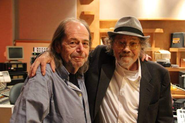 Ray Russell and Bill Fay in the studio, 2014