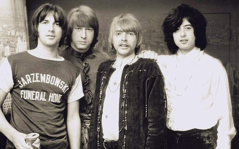 Original YARDBIRDS before the end: Jim McCarty, Chris Dreja, Keith Relf, Jimmy Page