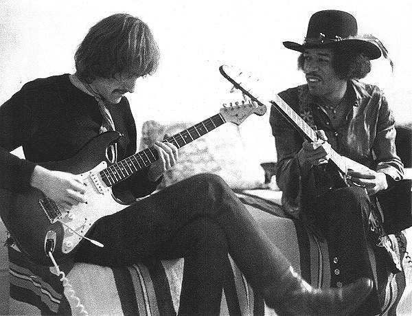 Dave with Jimi Hendrix