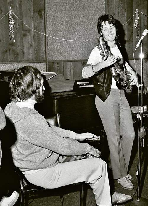 Dave records with Paul McCartney