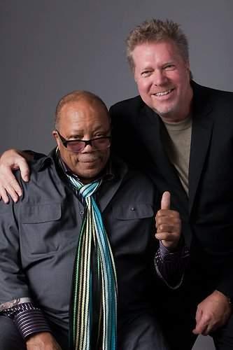 John Robinson with Quincy Jones