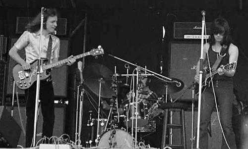 With Jack Bruce, Hyde Park free concert, 1971 © Maurizio Comandini
