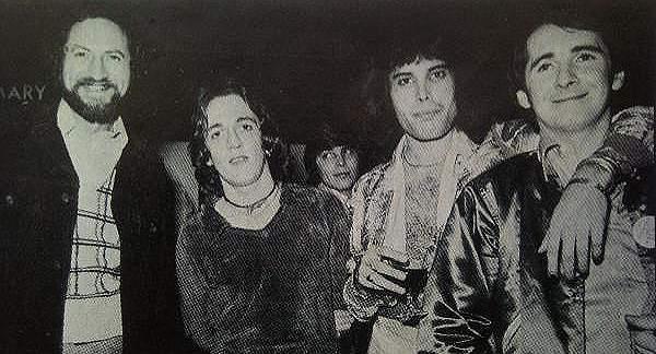 Manager Bob Hirschman, Dicken, Freddie Mercury, QUEEN's manager John Reid